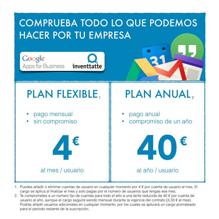 Google Apps For Business - Precios
