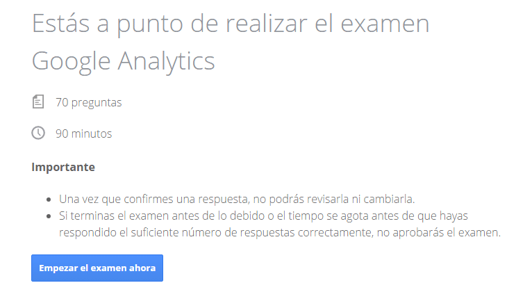 Inicio Certificacion Google Analytics