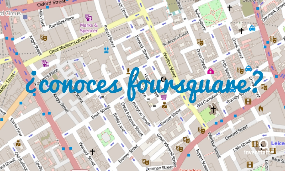 ¿Aún no conoces la red social Foursquare?