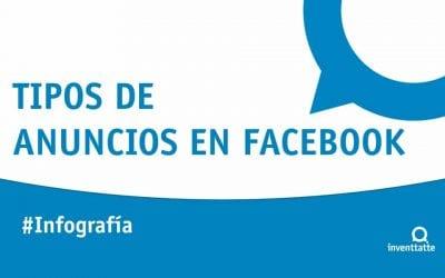 Infografía: Tipos de anuncios en Facebook