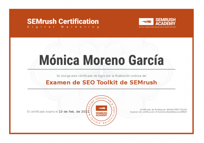 Certificaciones SEO - Semrush Certificacion for Content Marketers